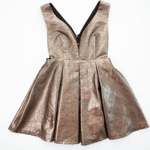 NastyGal Metallic Side Split Mini Dress SEE DETAIL
